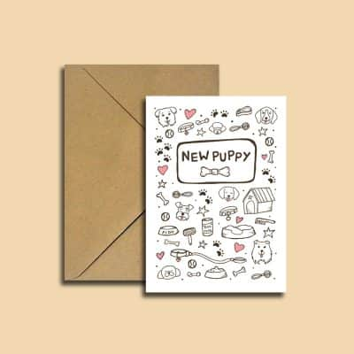 welcome new puppy card design 2